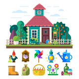 Κήπος και οπωρώνας ελεύθερη απεικόνιση δικαιώματος