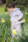 Κήπος λουλουδιών παιδιών Στοκ εικόνες με δικαίωμα ελεύθερης χρήσης