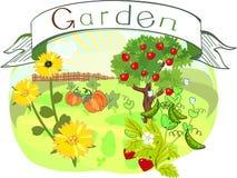Κήπος με τον τίτλο ελεύθερη απεικόνιση δικαιώματος