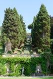 Κήπος μιας βίλας σε Levano στη Λιγυρία Στοκ Φωτογραφίες