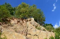 Κήπος μπλε βράχου Στοκ εικόνα με δικαίωμα ελεύθερης χρήσης
