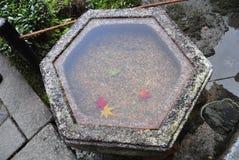 Κήπος δοχείων νερού στο ναό Κιότο Tofukuji Στοκ εικόνες με δικαίωμα ελεύθερης χρήσης