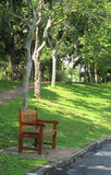κήπος πάγκων ξύλινος Στοκ Εικόνα