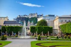 κήπος πηγών mirabell Στοκ Φωτογραφίες