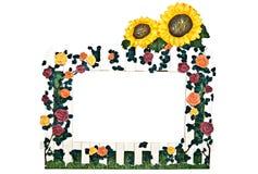 κήπος πλαισίων λουλουδιών Στοκ Εικόνες