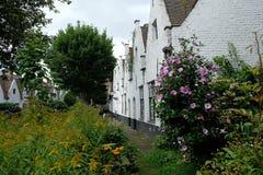 Κήπος προαυλίων των πτωχοκομείων Meulenaere και Αγίου Joseph, Μπρυζ Μπρυζ, Βέλγιο στοκ φωτογραφία με δικαίωμα ελεύθερης χρήσης