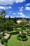 Κήπος στην Τοσκάνη, Ιταλία Στοκ Φωτογραφία