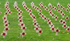 Κήπος της ενθύμησης που χαρακτηρίζει την εκατονταετία του τέλους του παγκόσμιου πολέμου ένας στοκ φωτογραφία με δικαίωμα ελεύθερης χρήσης