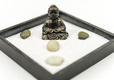 Κήπος της Zen με το Βούδα Στοκ Εικόνα