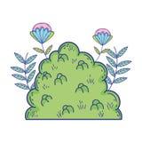 Κήπος του Μπους με τα λουλούδια ελεύθερη απεικόνιση δικαιώματος