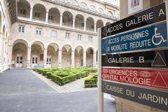 Κήπος του νοσοκομείου ξενοδοχείο-Dieu στο Παρίσι Στοκ Φωτογραφία
