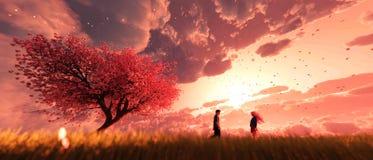 Κήπος του ουρανού ελεύθερη απεικόνιση δικαιώματος