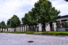 Κήπος του Alte το παλαιό μουσείο του National Gallery στο νησί μουσείων στο Βερολίνο Γερμανία Στοκ Φωτογραφία