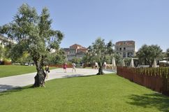 Κήπος του plaza της Λισσαβώνας Στοκ φωτογραφίες με δικαίωμα ελεύθερης χρήσης