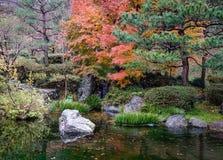 Κήπος φθινοπώρου σε Kanazawa, Ιαπωνία Στοκ φωτογραφίες με δικαίωμα ελεύθερης χρήσης