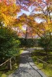 Κήπος φθινοπώρου στο ναό Tenryu-tenryu-ji Στοκ φωτογραφίες με δικαίωμα ελεύθερης χρήσης
