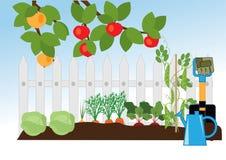Κήπος φρούτων και λαχανικών ελεύθερη απεικόνιση δικαιώματος