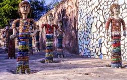 Κήπος Chandigarh Ινδία βράχου Chands Nek Στοκ Φωτογραφίες