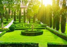 Κήπος Giusti στη Βερόνα Στοκ Εικόνες