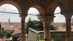 Κήπος Giusti Το παλάτι και ο κήπος Giusti βρίσκονται στη ανατολικά Βερόνα απόθεμα βίντεο