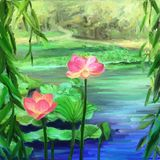 Κήπος Lotus Στοκ Φωτογραφίες