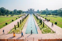 Κήπος Mahal Taj σε Agra, Ινδία στοκ φωτογραφία