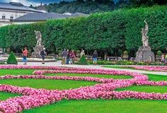 Κήπος Mirabell κοντά σε Mirabell Castle Σάλτζμπουργκ australites Στοκ Εικόνες