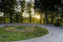 Κήπος Monastery Curtea de Arges Στοκ φωτογραφία με δικαίωμα ελεύθερης χρήσης
