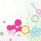 κήπος Paisley λουλουδιών άνε&upsilo Στοκ Εικόνες