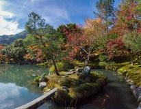 Κήπος Tenryu-tenryu-ji το φθινόπωρο Στοκ Εικόνα