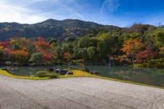 Κήπος Tenryu-tenryu-ji το φθινόπωρο Στοκ Εικόνες