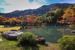 Κήπος Tenryu-tenryu-ji το φθινόπωρο Στοκ Φωτογραφία
