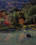 Κήπος Tenryu-tenryu-ji το φθινόπωρο Στοκ εικόνες με δικαίωμα ελεύθερης χρήσης