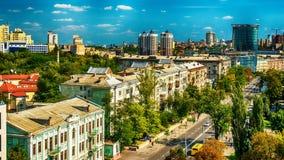 Κίεβο ή Kiyv, Ουκρανία: εναέρια πανοραμική άποψη του κέντρου πόλεων Στοκ Φωτογραφία