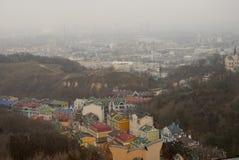 Κίεβο, Ουκρανία Άποψη άνωθεν το παλαιό κέντρο στοκ φωτογραφίες με δικαίωμα ελεύθερης χρήσης