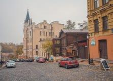Κίεβο, Ουκρανία - 22 Οκτωβρίου 2015: Κάθοδος του Andrew οδών στοκ φωτογραφία