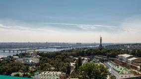 Κίεβο, Ουκρανία, πανοραμική άποψη πόλεων Στοκ Φωτογραφία