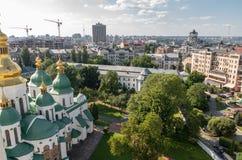 Κίεβο, Ουκρανία, πανοραμική άποψη πόλεων Στοκ εικόνα με δικαίωμα ελεύθερης χρήσης