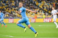 Κίεβο, ΟΥΚΡΑΝΙΑ - 13 Σεπτεμβρίου 2016: Arkadiusz Milik κατά τη διάρκεια του UEFA CH Στοκ εικόνες με δικαίωμα ελεύθερης χρήσης