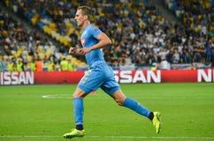 Κίεβο, ΟΥΚΡΑΝΙΑ - 13 Σεπτεμβρίου 2016: Arkadiusz Milik κατά τη διάρκεια του UEFA CH Στοκ Εικόνα