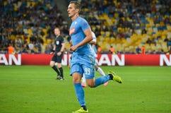 Κίεβο, ΟΥΚΡΑΝΙΑ - 13 Σεπτεμβρίου 2016: Arkadiusz Milik κατά τη διάρκεια του UEFA CH Στοκ Εικόνες