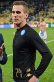 Κίεβο, ΟΥΚΡΑΝΙΑ - 13 Σεπτεμβρίου 2016: Arkadiusz Milik κατά τη διάρκεια του UEFA CH Στοκ εικόνα με δικαίωμα ελεύθερης χρήσης