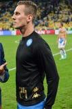Κίεβο, ΟΥΚΡΑΝΙΑ - 13 Σεπτεμβρίου 2016: Arkadiusz Milik κατά τη διάρκεια του UEFA CH Στοκ Φωτογραφία