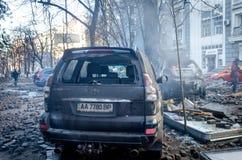 Κίεβο στις 19 Φεβρουαρίου 2014 Στοκ Εικόνα