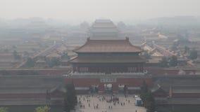 Κίνα, αιθαλομίχλη στο Πεκίνο απόθεμα βίντεο