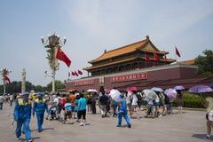 Κίνα Ασία, Πεκίνο, η πύλη Tiananmen Στοκ εικόνες με δικαίωμα ελεύθερης χρήσης