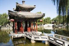 Κίνα, Ασία, Πεκίνο, ο μεγάλος κήπος άποψης, παλαιά κτήρια Στοκ Φωτογραφίες