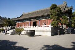 Κίνα, Ασία, Πεκίνο, ο μεγάλος κήπος άποψης, παλαιά κτήρια Στοκ Εικόνες