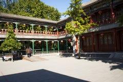 Κίνα, Ασία, Πεκίνο, ο μεγάλος κήπος άποψης, παλαιά κτήρια Στοκ φωτογραφία με δικαίωμα ελεύθερης χρήσης