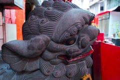 Κίνα, θρησκεία, λιοντάρι πετρών, λιοντάρι πετρών στοκ εικόνες με δικαίωμα ελεύθερης χρήσης